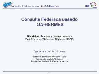 Consulta Federada usando  OA-Hermes