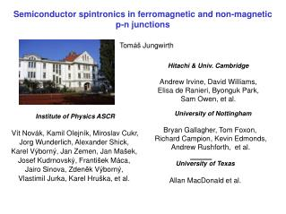 Semiconductor spintronics in ferromagnetic and non-magnetic p-n junctions