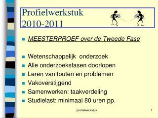 Profielwerkstuk 2010-2011