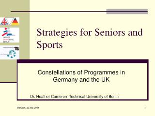 Strategies for Seniors and Sports