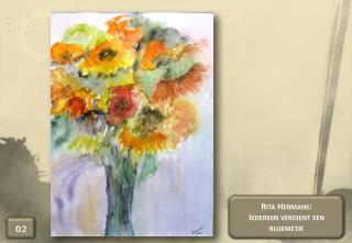 Rita Hermans:  Iedereen verdient een bloemetje