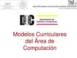 Modelos Curriculares del  �rea de Computaci�n