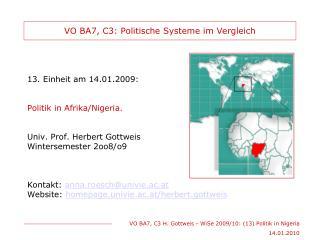 VO BA7, C3: Politische Systeme im Vergleich