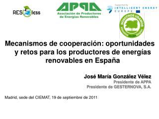 Madrid , sede del CIEMAT, 19 de septiembre de 2011