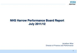 NHS Harrow Performance Board Report July 2011/12