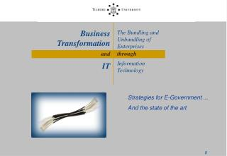 The Bundling and Unbundling of Enterprises