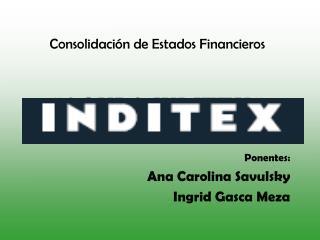 Consolidaci n de Estados Financieros      GRUPO INDITEX