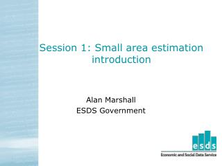 Session 1: Small area estimation introduction