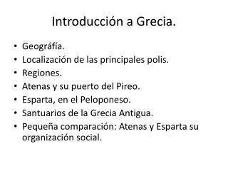 Introducción a Grecia.