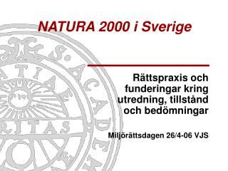 NATURA 2000 i Sverige