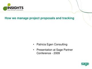 How we manage project proposals and tracking