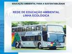 EDUCA  O AMBIENTAL PARA A SUSTENTABILIDADE