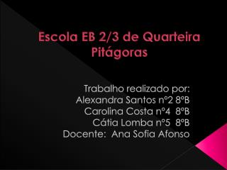 Escola EB 2/3 de Quarteira Pitágoras