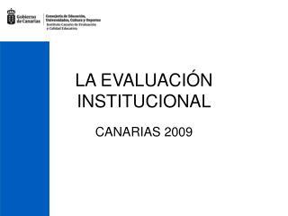LA EVALUACIÓN INSTITUCIONAL