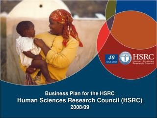 Business Plan for the HSRC Human Sciences Research Council (HSRC) 2008/09