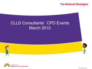 CLLD Consultants'  CPD Events March 2010