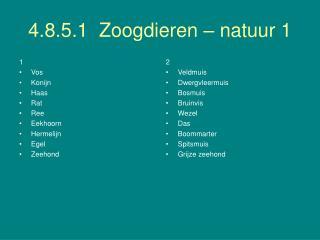 4.8.5.1  Zoogdieren – natuur 1