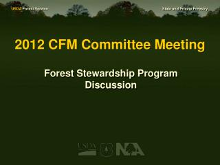 2012 CFM Committee Meeting