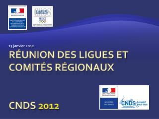 Réunion des ligues et comités régionaux CNDS  2012
