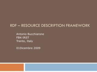 RDF � Resource Description Framework