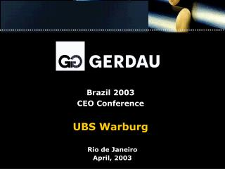 Brazil 2003 CEO Conference UBS Warburg