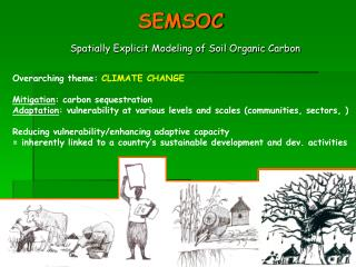 SEMSOC Spatially Explicit Modeling of Soil Organic Carbon