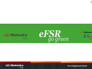 eFSR –  Customer Expectation