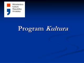 Program  Kultura