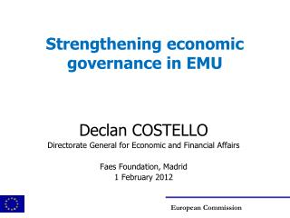Strengthening economic governance in EMU