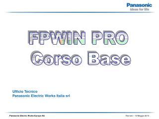 Ufficio Tecnico  Panasonic Electric Works Italia srl