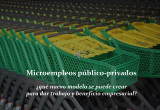 Microempleos  público-privados ¿ qué nuevo modelo se puede crear