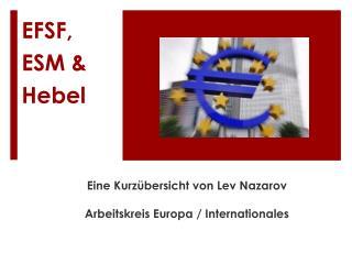 EFSF, ESM & Hebel