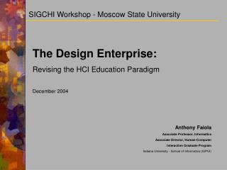 SIGCHI Workshop - Moscow State University
