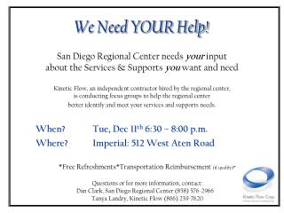 *Free Refreshments*Transportation Reimbursement  (if qualify)*
