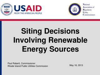 Siting Decisions Involving Renewable Energy Sources