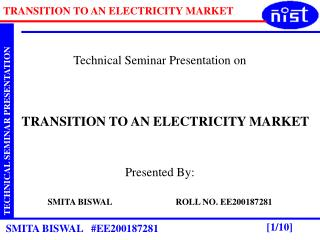 Technical Seminar Presentation on