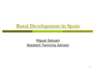 Rural Development in Spain