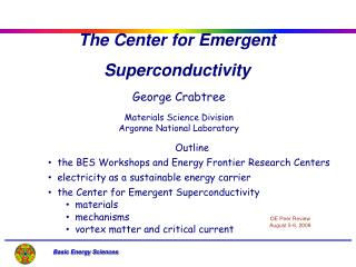 The Center for Emergent Superconductivity