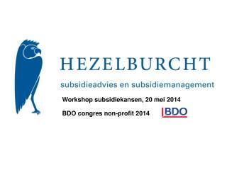 BDO  congres  non-profit 2014