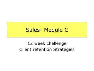 Sales- Module C