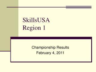 SkillsUSA Region 1