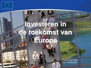 Investeren in  de toekomst van Europa
