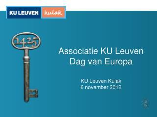 Associatie KU Leuven Dag van Europa