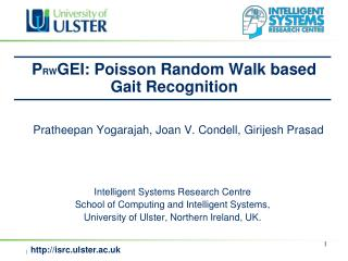 P RW GEI: Poisson Random Walk based  Gait Recognition