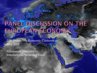 Panel discussion on the European Economy