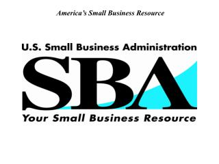 America s Small Business Resource