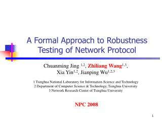 A Formal Approach to Robustness Testing of Network Protocol