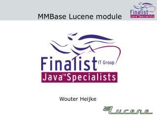 MMBase Lucene module