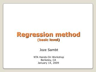 Why do we need  a regression method?