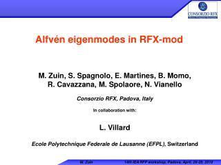 Alfvén eigenmodes in RFX-mod